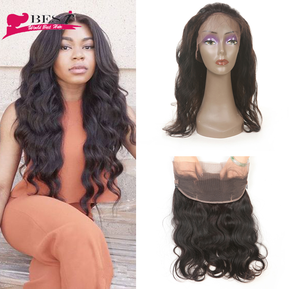 New Virgin Malaysian Hair Pre Plucked 360 Lace Band Frontal Closure 7A Malaysian Body Wave Natural Hairline With Baby Hair <br><br>Aliexpress