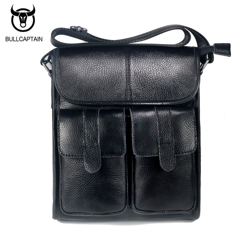 BULLCAPTAIN Brand Design Men Bags Genuine Leather Men Shoulder Crossbody Bags Fashion Vintage Men Messenger Bags Briefcase <br>