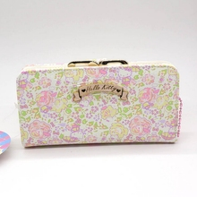 Hello Kitty large capacity wallet female High quality PU womens purse gift for Girlfriend