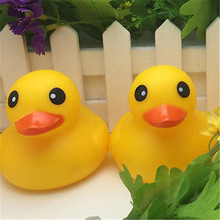 Animals Soft Rubber Float Squeeze Sound Squeaky Bath Toys Classic Rubber Duck Plastic Bathroom Swimming Toys Gifts(China)