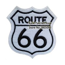 US Route 66 Logo Embroideried Iron On Patches, US Highway Badge Logo Jacket Patch, Jacket Hat DIY Clothing Accessories(China)