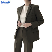 HziriP 2017 Women Blazers and Jackets Winter Fall Long Sleeve Suit Collar Western Uniform Style Work Wear Office Outwear Blazer