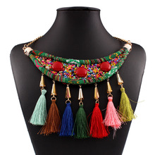 Find Me 2017 brand boho ethnic Fashion woven collar choker necklaces Pendants Vintage punk statement maxi Necklace women Jewelry(China)
