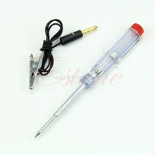 Discount DC 6V-24V 12V Auto Car Truck Motorcycle Circuit Voltage Tester Pen Test Tool #L057# new hot
