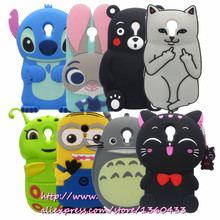 Lovely Case For Meizu M2 MIni 3D Cartoon Stitch Cat Bear Soft Silicone Phone Protective Back Cover Animal Car for Meilan 2(China)