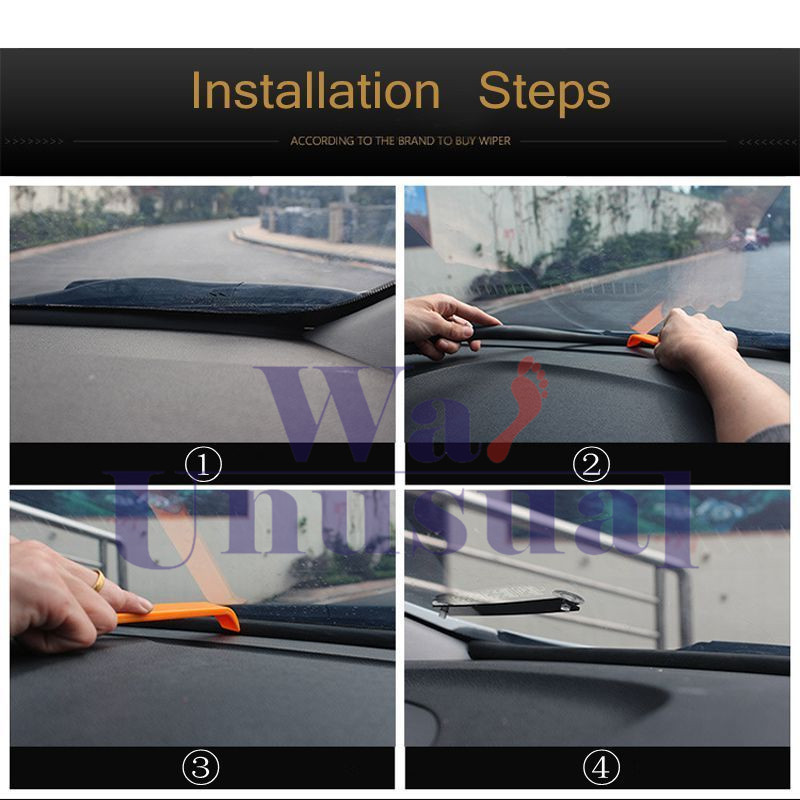 Rubber 1.6m Soundproof Dustproof Sealing Strip for Auto Car Dashboard Windshield 11
