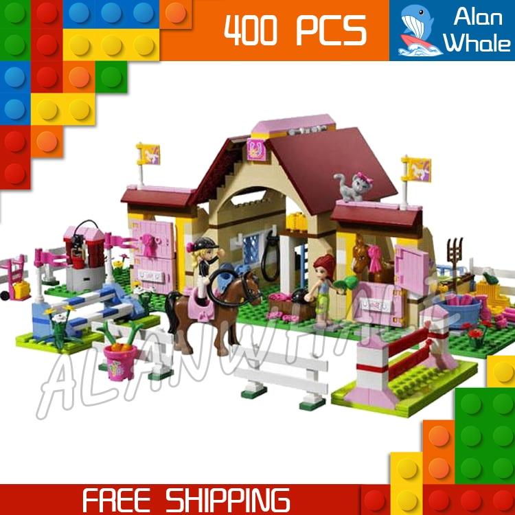 400pcs Bela 10163 Building Blocks Friends Series HeartLake Stables Mias Farm Horse Girls Toys Compatible with Lego<br>