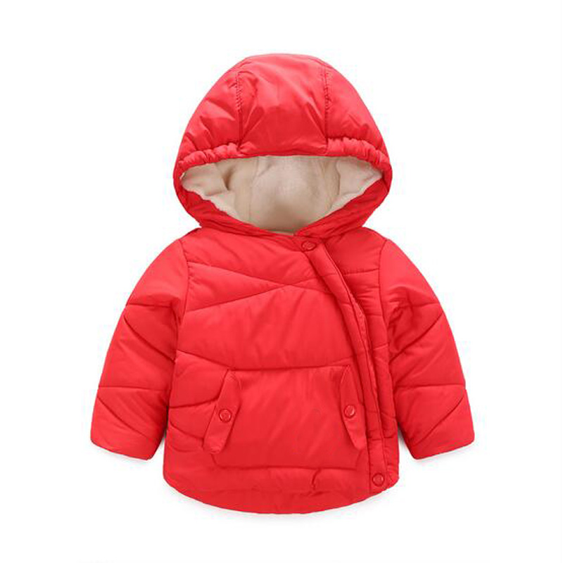 New Winter Girls Winter Jacket Cotton-Padded Children Boys Solid Coat Hooded Baby Girls Kids Parka Outwear Thick Warm ClothingОдежда и ак�е��уары<br><br><br>Aliexpress