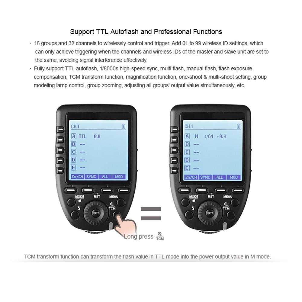 Godox Xpro-O 2.4G wireless X system TTL HSS Camera Flash Transmitter (43)