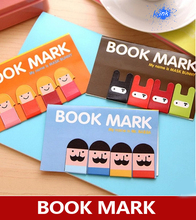 30 packs / lot , girl / mustache / ninja bunny magnet bookmark , cute cartoon magnet book mark / fridge magnet(China)