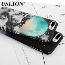 USLION Fashion Starry Sky Paint Phone Case For iPhone 7 Luxury Frosted Back Cover Cases Shell Capa Coque For iPhone7 6 6s Plus
