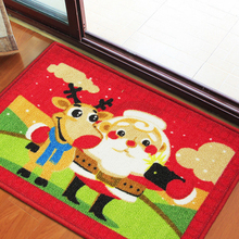 Carpet manufacturers Christmas decorations cartoon entry mat Europe and the United States Santa Christmas mats(China)