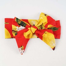 Sweet Lemon 100% Cotton Bow Headband For Girl Kids Knotted Flower Headwear Hairband Accessory(China)