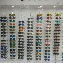 10pcs Aluminium Lockable Eyewear Sunglasses Eyeglasses Display Rod For 16 Frames(China)