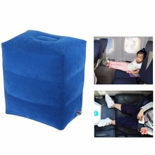 Airplane Pillow Inflatable Travel Footrest Pillow Flight Pillow For Kids And Adults Car Airplane Foot Pad Foot Mat(China)
