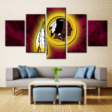 FORBEAUTY Washington Redskins Team logo  12 inch car magnet  5 Piece Oil Canvas PaintingDecor For Home Sofa Wall Pictures