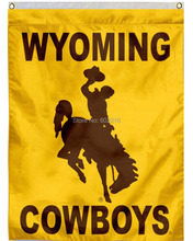 WYO Cowboys Football Garden House College Large Outdoor Flag 3ft x 5ft Football Hockey Baseball USA Flag(China)