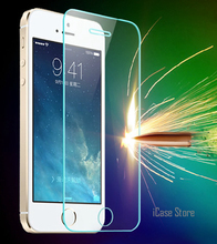 Hot!0.26mm 9H Explosion-proof Premium Tempered Glass For iPhone 5 5S SE 5G 5C Screen Anti Shatter Protector Film Strong Package(China)