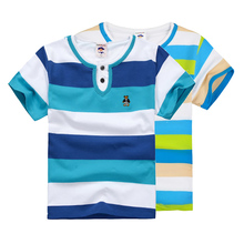 High Quality Breathable Boys T Shirt Name Brand children clothing Kids Fashion Clothes Short Sleeve Cotton Summer Girls T-Shirts(China)