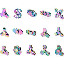 New colorful metal Fidget Spinner Triangle EDC Finger Hand Spinner For Autism/ADHD Anxiety Stress Relief Focus Toys many styles