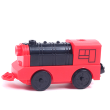 11.5*3.2*5cm Plastic Electric Thomas Magnetic Train With Sound Electronic Track Railway Educational Kids Toys For Children Best