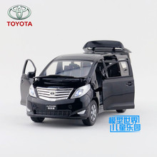 1:27 Scale/Diecast Metal Model/Japan Toyota Alphard MPV Toy Car/Sound & Light/Educational Collection For Children/Festival Gift