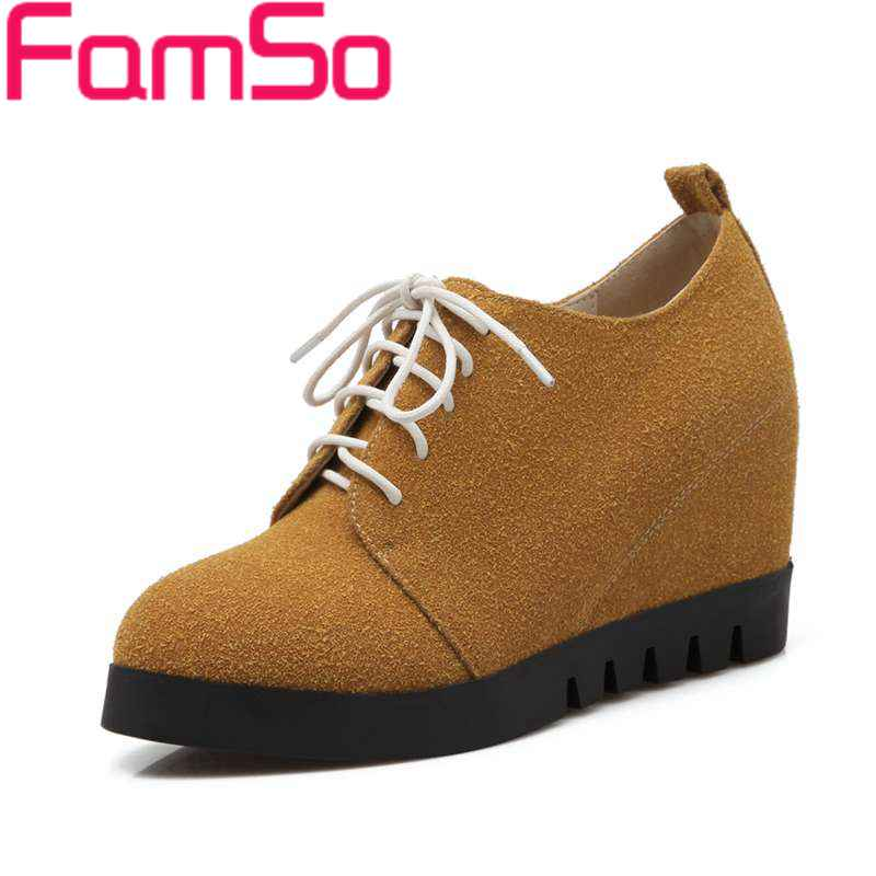 Plus Size34-43 2017 New Fashion Women Spring Autumn Ankle Boots Wedges Platforms Shoes black Womens Round toe Boots SBT3360<br><br>Aliexpress