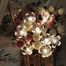 Battery Operated String Fairy Lights LED Sakura Flower Christmas Home Garland Decor
