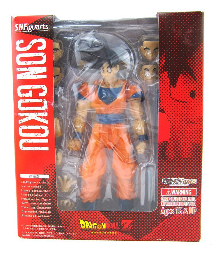 New Son Goku Normal Saiyan Dragon Ball Z DBZ Bandai Tamashii S.H.Figuarts 6 inch/15 CM PVC Action Mini Model Collection Toys<br><br>Aliexpress