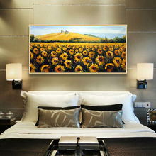 Sunflowers Artist sales hand painted oil paintings golden sunflower home decoration for living room(China)