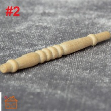 DIY Spindles Balusters wooden dollhouse miniature 1/12 scale Stair railing(China)