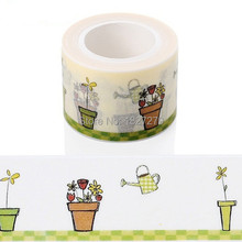 1X TOP Best Selling 3cm*10m Decorative Adhesive Paper Tape and Flower Designs Japanese Washi Tape Wholesale