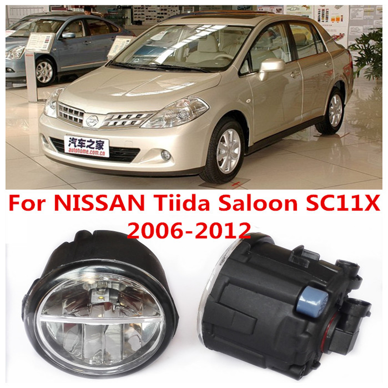 6000K  10W White High Brightness For NISSAN Tiida Saloon SC11X  2006-2012 Car Styling Front Bumper LED Fog Lights Lamps DRL<br><br>Aliexpress