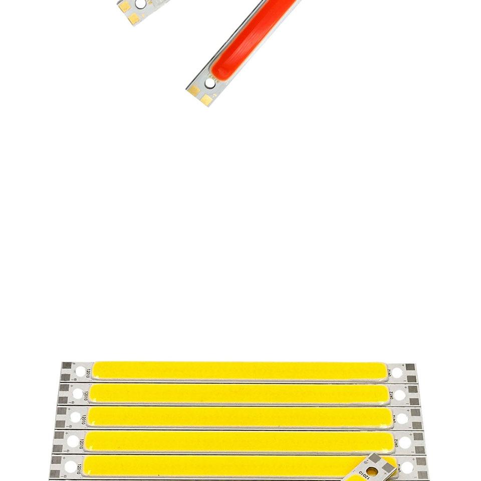 120mm 4.72in LED Bar Light Strip COB Bulb 12V 7W 10W LED Lamp Green Blue Red White Emitting Colors 12010mm COB Chip (5)