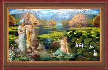 Diy crafts diamond embroidery 5d diy diamond painting crystal Beautiful swan picture canvas cross stitch Field landscape(China)