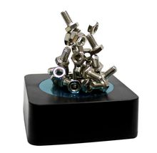 9Pig/ Magnet Magnetic Sculpture Screw Bolt Nuts Endless Combination Stacking Toy/Boyfriend Gift Office Funny Decompression Toy
