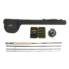 4 Section Fly Fishing Rod Reel Combo Full Kit Carbon Fiber Fishing Pole 2+1BB Fish Reel +Lure+Line Fishing Gear Set In Bag Pesca