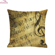 6 PatternsPolyester Cotton Mermaid Piano Musical Note Throw Pillow Cover Home Sofa Decor Cushion Cover Decorative Pillowcase(China)