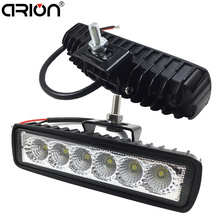 1Pcs 2Pcs 18w DRL LED Spot Flood Work Light Worklight 9-32V 4WD 12 volt led work lights for Off Road Vehicle SUV car trucks(China)