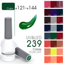 2017 Nail Art Salon use Canni beautiful color 15ml Soak off UV LED Designs Nails Gel Polish Gel Vernishs Nail Polish uv Gel(China)