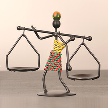 Figure Iron candle holder wrought iron metal candlestick creative man candle stand party wedding home decoration European style