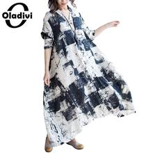 Buy Oladivi Brand Women Clothing Fashion Printing Ladies Casual Loose Shirt Dresses Long Tunic Big Size Summer Dress 2018 New 3XL for $22.55 in AliExpress store