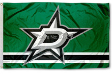 Dallas Stars Hockey Large Outdoor Flag Banner 3ft x 5ft Custom Team Banner Fan Flag