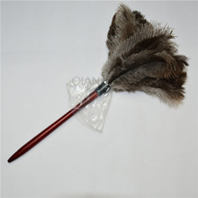 Free shipping!Anti Static Natural Fall Ostrich feather Duster Brush Wood handle Household Cleaning Car Fan Furniture Dust Cleane