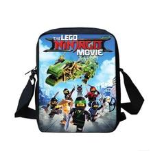 Masters Spinjitzu Cartoon Pattern Mini Shoulder Bag Primary School Students Lego Ninjago Messager Bag Boy Girl Customize