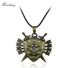 Hot Game Jewelry Legend of Zelda Necklace Zelda Triforce Pendant Navi Necklace Butterfly Charming Papillon Necklace Men Gift