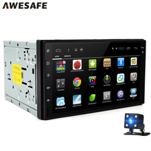 "AWESAFE 7""2Din Car Radio  Multimedia Play 1024*600 Quad-core Android Car Tap PC Tablet Universal GPS Navigation Video (No DVD)"