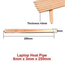 2pcs/lot 8x3x250mm Flat Copper Heat pipe Heat sink Radiator Cooling,Laptop CPU GPU Video Card  DIY Oblate Tube Heatpipe