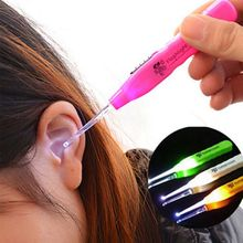 ship 1 pc Ear Wax Remove LED Flashlight EarPick Cleaner Tool Curette Electric ear cleaner cleaning device dig ear massage saq