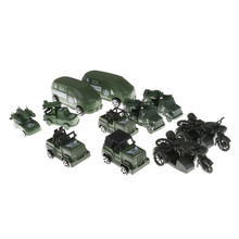 2Pcs/Lot Muti-Style Jeep / off-road Vehicle Children Kids Birthday Gifts Mini Military Car Toys Model Military Car Model(China)